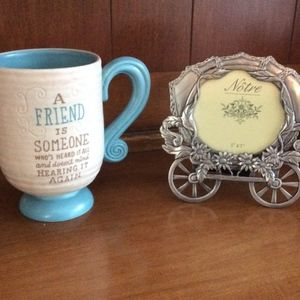 Cup and Metal Frame